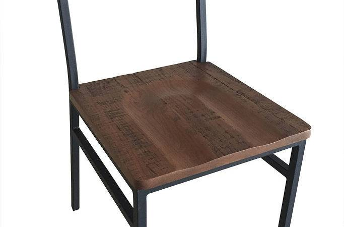 Henry Steel Chair Distressed Wood