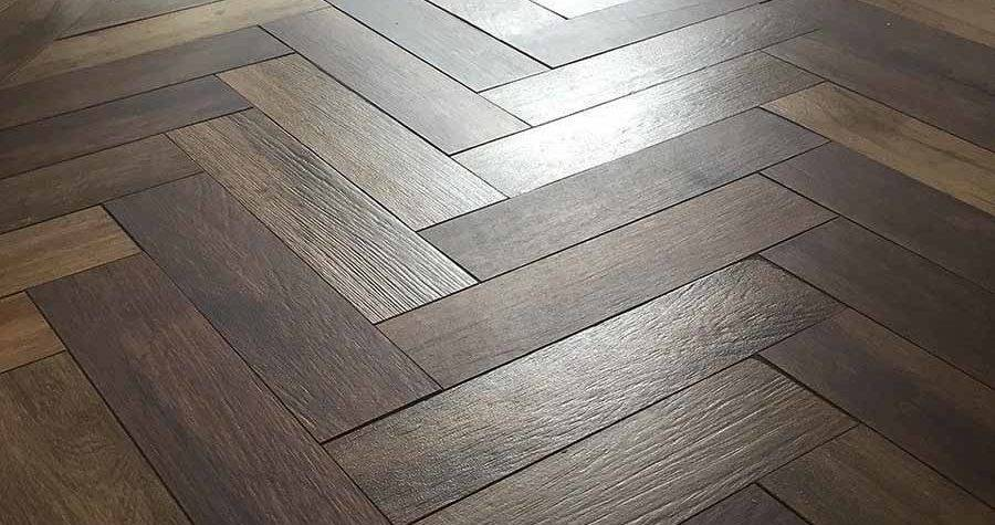 Herringbone Parquet Wood Look Porcelain Floor Tiles