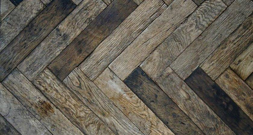 Herringbone Reclaimed Wood Floor Homespun Pinterest