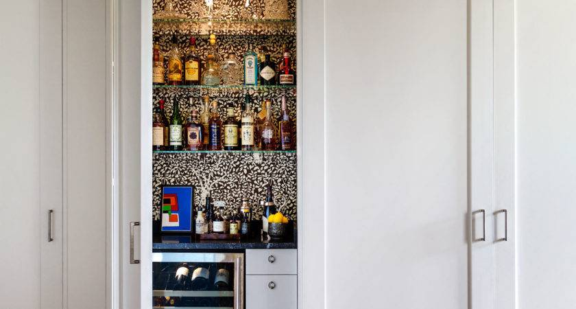 Hidden Storage Wet Bar Home Design