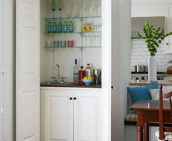 Hidden Wet Bar Contemporary Dining Room Bhg