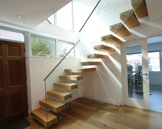 High Grade Top Mounted Stainless Steel Handrail Wood