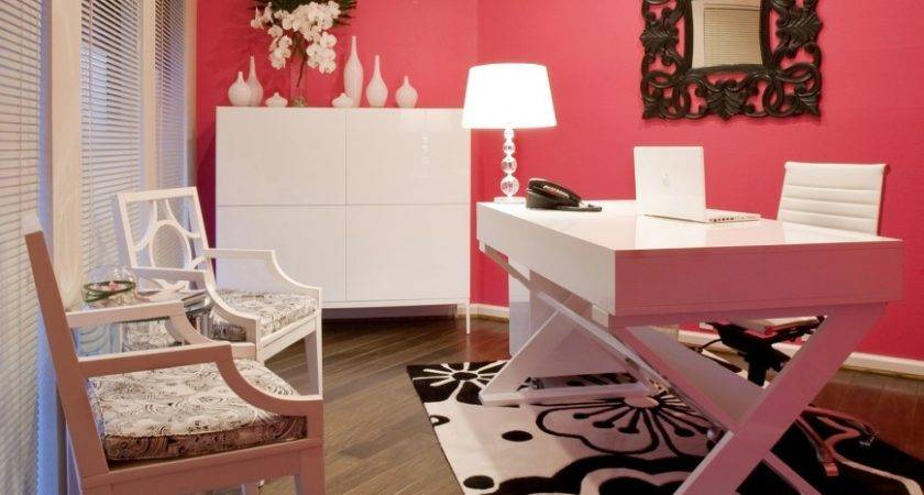 High Low Workspace Get Look Bright Pink Chic