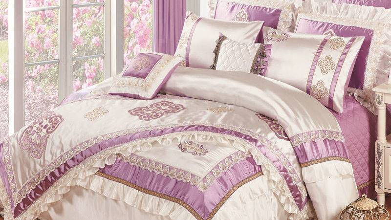 High Quality Silk Slippery Pcs Bedding Bedspread Linens