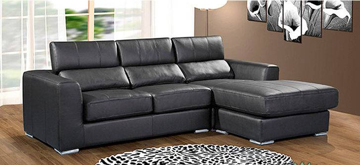 High Quality Small Black Sofa Corner Leather