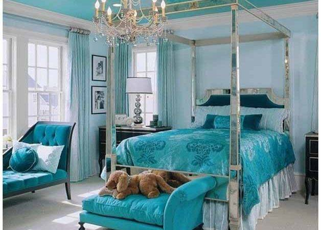 Highlight Bedroom Interiors Turquoise Blue