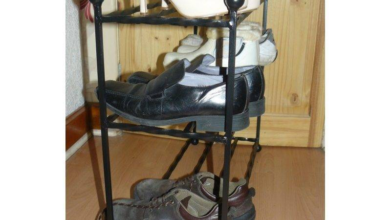 Hikers Boot Rack Shoe Wrought Iron