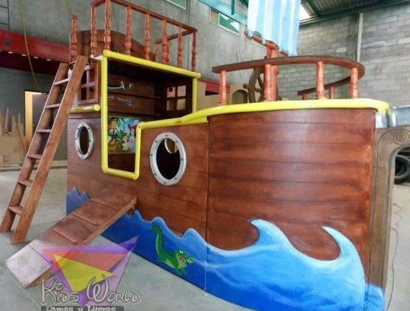 Home Decor Amazing Boat Shaped Bed Kids Room Ideas