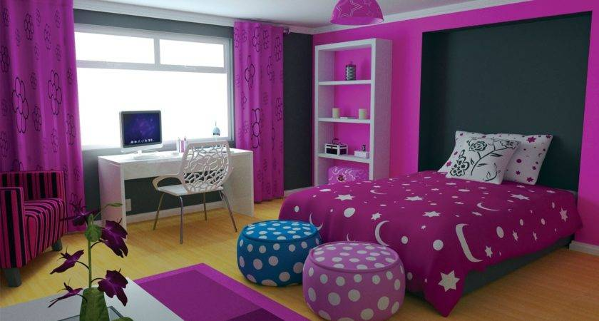 Home Decor Trends Purple Teen Room
