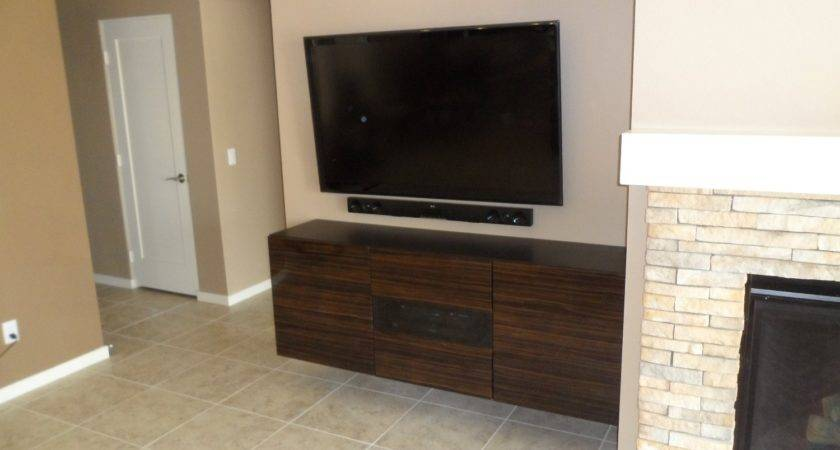 Home Decor Wall Mounted Flat Screen Cabinet Corner