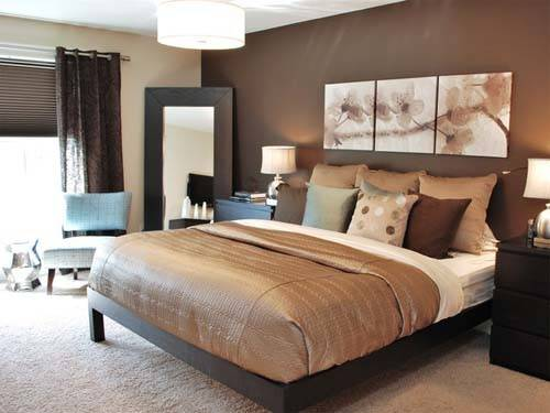 Home Design Modern Bedroom Brown Theme