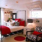 Home Design Red White Bedroom