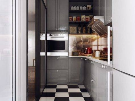 Home Designs Super Compact Kitchen Layout Charming