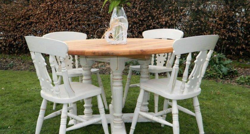 Home Farmhouse Round Dining Table Cottage Style