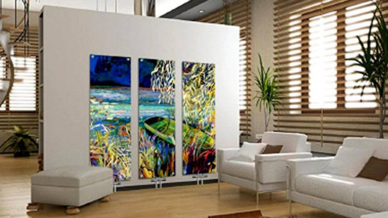 Home Interior Decorating Contemporary Art Glass Radiators