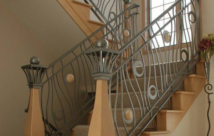 Home Interior Decorating Modern Homes Iron Stairs Railing