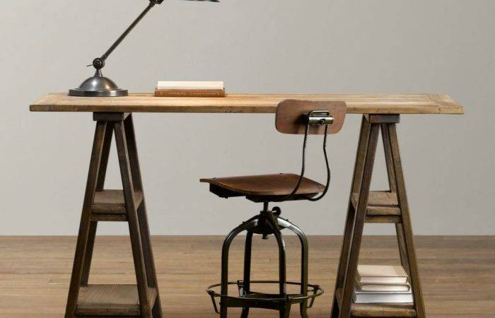 Home Offices Featuring Trestle Tables Desks