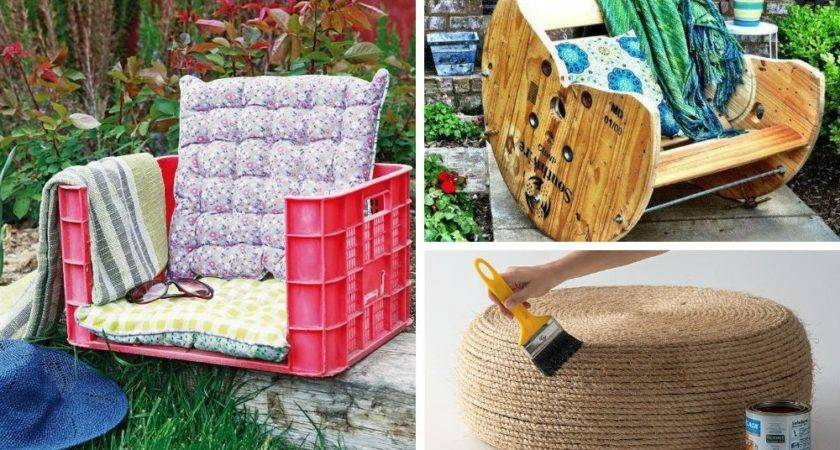 Homemade Outdoor Furniture Ideas Landscaping Gardening
