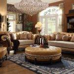 Homey Design Leather Fabric Living Set