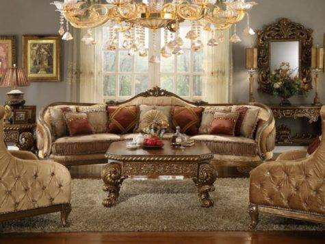 Homey Design Upholostered Sectional Victorian