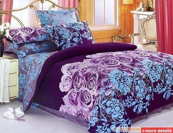 Horses Design Queen Bed Quilt Comforter Duvet Cover Sets