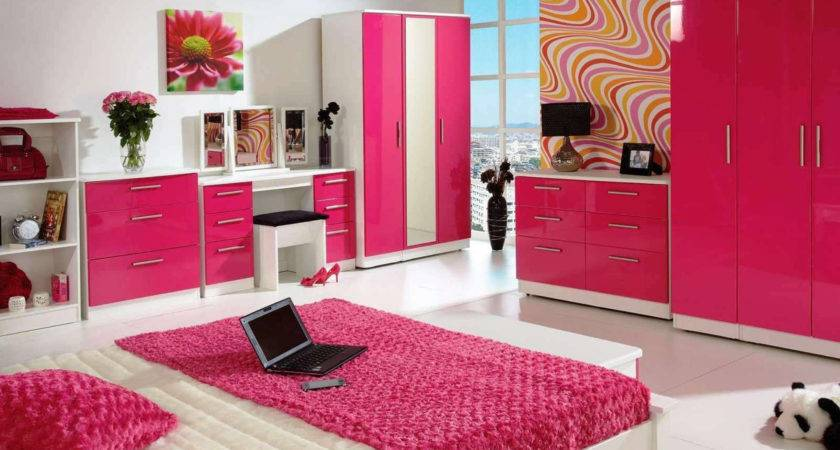 Hot Pink Colour Combination Living Room Home Combo