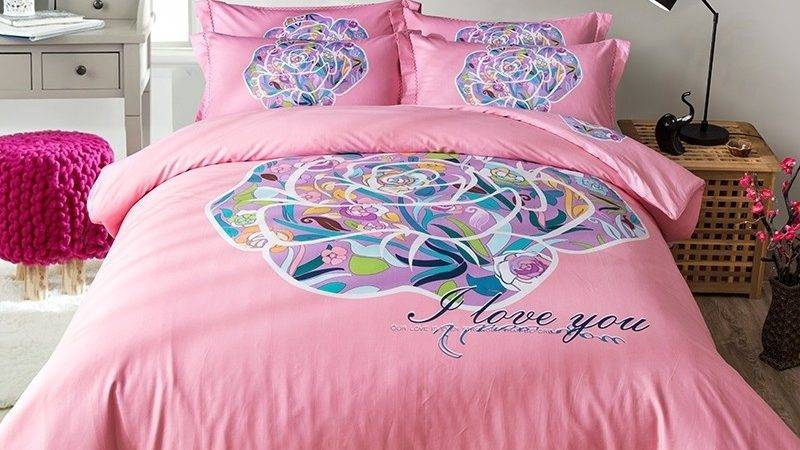 Hot Pink Green Purple Blue Colorful Flower Print