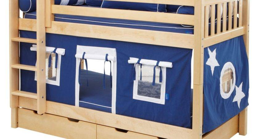 Hot Shot Boy Twin Over Tent Bunk Bed Kids Trundle