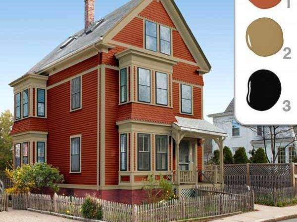 House Colors Exterior Red Warm