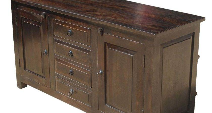 Houston Rustic Solid Wood Drawer Sideboard