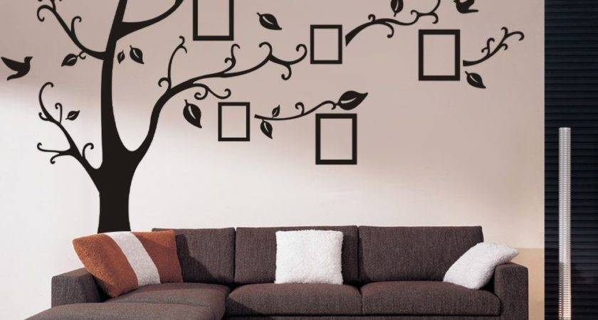 Huge Frame Tree Vinyl Removable Wall Stickers