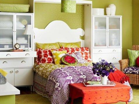 Ideas Bedrooms Lime Green Orange Bedroom