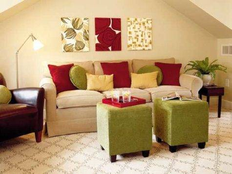 Ideas Bringing Bright Room Colors Into Modern Interior