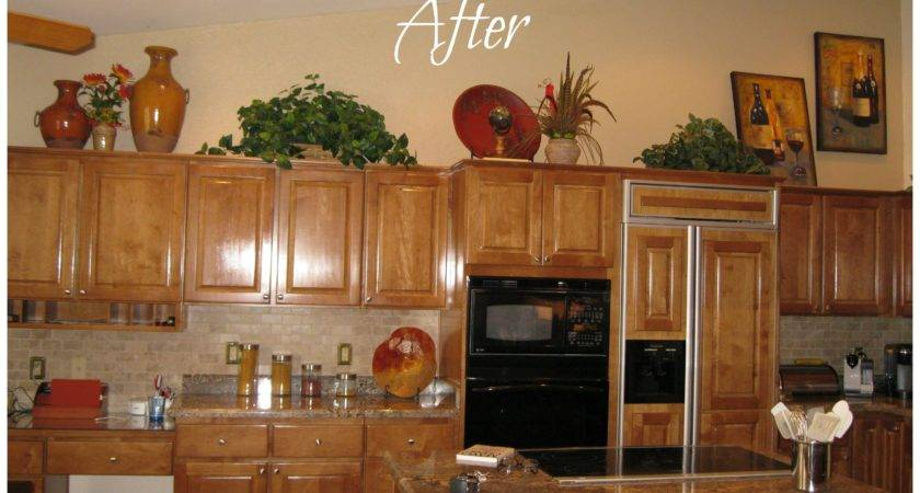 Ideas Decorating Above Kitchen Cabinets Best Home
