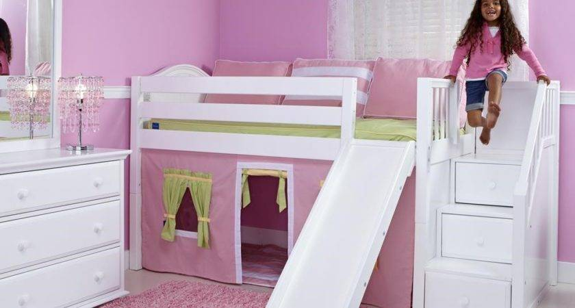 Ideas Girl Loft Bed Slide