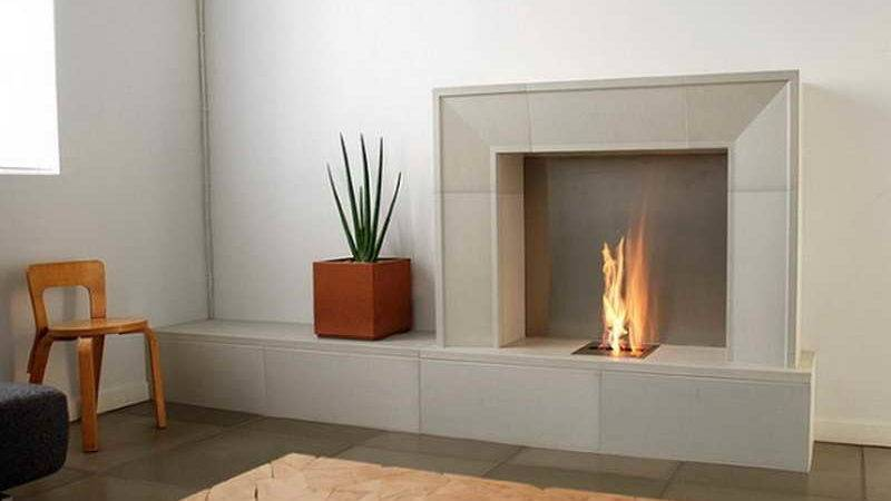 Ideas Modern Electric Fireplace Hearth Steps