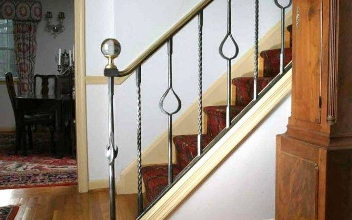 Impressive Interior Metal Stair Railing