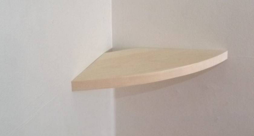 Inch Floating Rounded Corner Shelf Choose