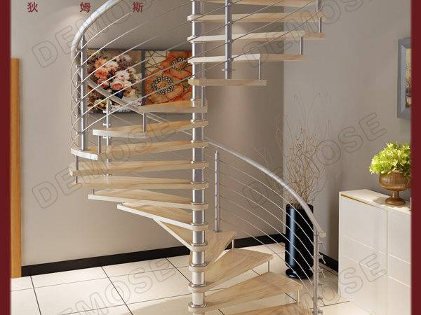 Indoor Arc Duplex Shape Stringer Grill Design Stairs