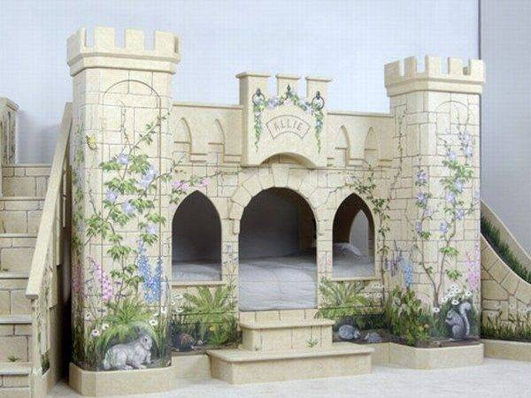 Indoor Fairy Tales Beds Shaped Like Castles Young