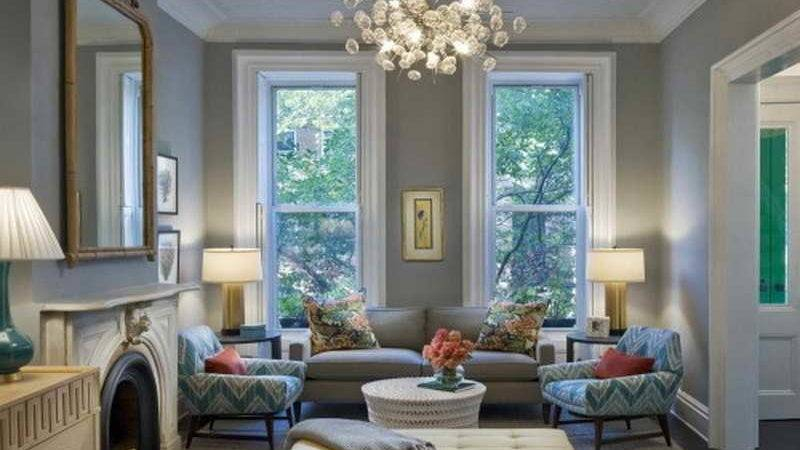 Indoor Modern Living Room Taupe Paint Colors