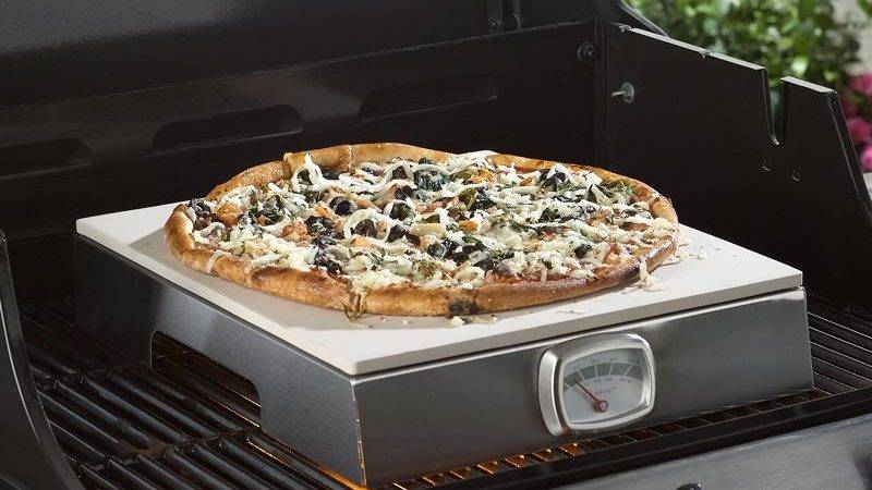 Indoor Outdoor Pizza Grill Built Thermometer