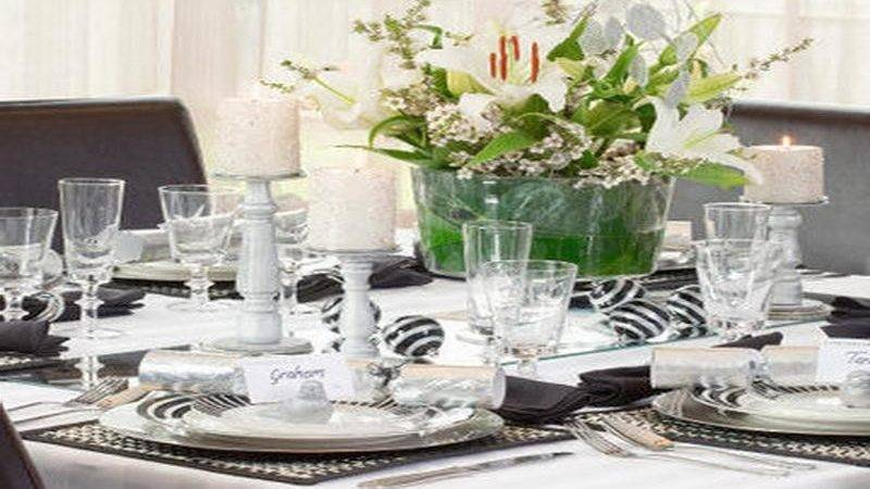 Indoor White Table Setting Ideas Christmas