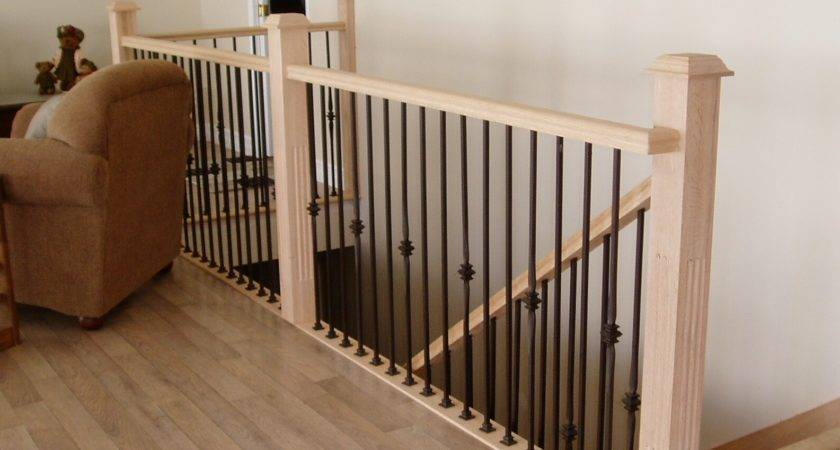 Indoor Wood Storage Stair Spindles Iron