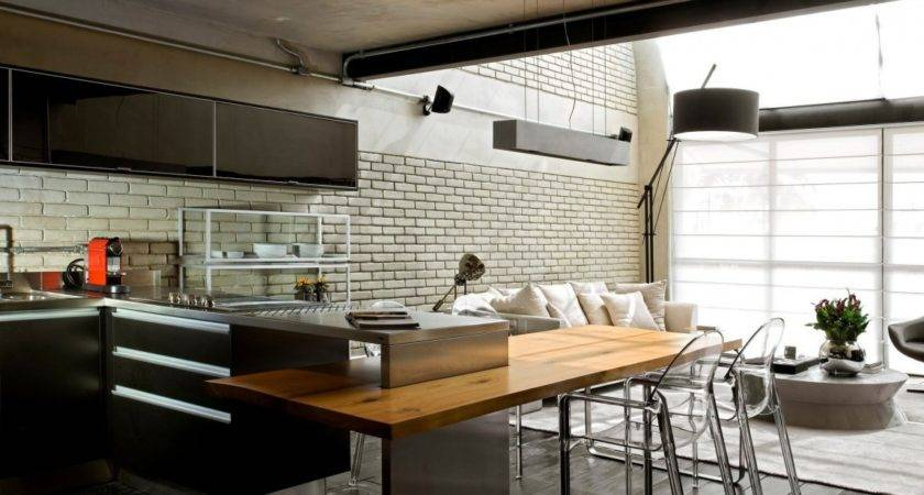 Industrial Chic Loft Features Ideal Match Between