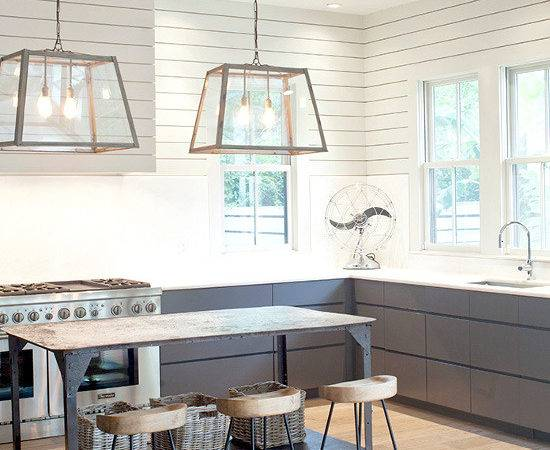 Industrial Farm House Style Kitchen Great Lighting