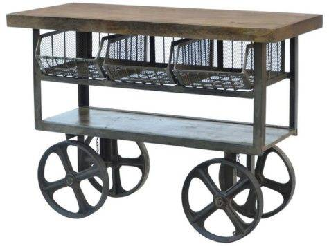 Industrial Iron Trolley Kitchen Islands