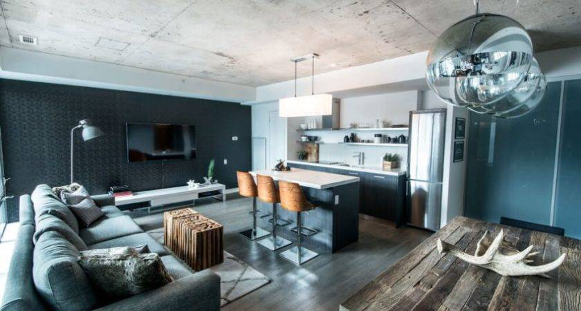 Industrial Loft Design Intriguing Color Palette