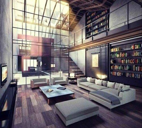 Industrial Loft Small Space Studio Apartment