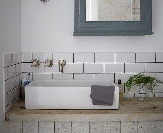Industrial Style Bathroom Metro Tiles Decorating